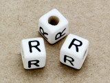 "Ceramic Alphabet Bead ""R"" - 6mm (CER36)"