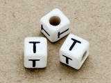 "Ceramic Alphabet Bead ""T"" - 6mm (CER38)"