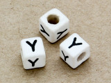 "Ceramic Alphabet Bead ""Y"" - 6mm (CER43)"