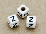 "Ceramic Alphabet Bead ""Z"" - 6mm (CER44)"