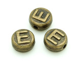 Brass Pewter - E - Round Bead 10mm (PB649)
