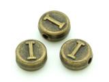 Brass Pewter - I - Round Bead 10mm (PB651)