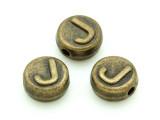 Brass Pewter - J - Round Bead 10mm (PB652)