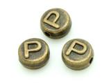 Brass Pewter - P - Round Bead 10mm (PB658)