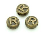 Brass Pewter - R - Round Bead 10mm (PB659)
