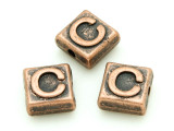 Copper Pewter - C - Square Bead 10mm (PB664)