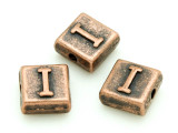 Copper Pewter - I - Square Bead 10mm (PB668)