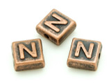 Copper Pewter - N - Square Bead 10mm (PB673)