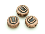 Copper Pewter - U - Round Bead 10mm (PB680)