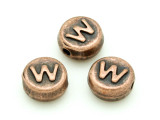 Copper Pewter - W - Round Bead 10mm (PB682)