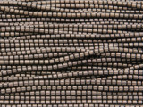 Bronze Electroplated Hematite Tube Gemstone Beads 1-2mm (GS3704)
