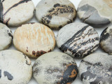 Artistic Jasper Round Tabular Gemstone Beads 25mm (GS3711)