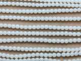 White Jade Faceted Round Gemstone Beads 4mm (GS3728)