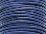 "Navy Blue Leather Cord 3mm - 36"" (LR76)"