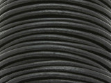 "Black Leather Cord 3mm - 36"" (LR77)"
