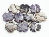 Cape Amethyst Tabular Cross Gemstone Beads 40mm (GS3759)