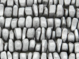 Silver Electroplated Hematite Nugget Gemstone Beads 14mm (GS3769)