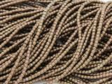 Bronze Electroplated Hematite Barrel Gemstone Beads 2mm (GS3777)