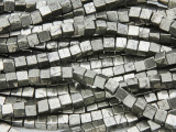 Iron Pyrite Cube Gemstone Beads 4mm (GS3783)