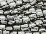 Iron Pyrite Rectangular Tabular Gemstone Beads 10mm (GS3788)