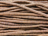 Copper Electroplated Hematite Heishi Gemstone Beads 4mm (GS3804)