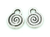 Spiral - Pewter Charm 15mm (PW1160)