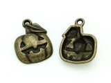 Brass Pumpkin - Pewter Charm 20mm (PW1167)