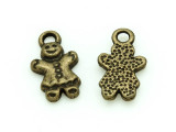 Brass Gingerbread Man - Pewter Charm 15mm (PW1171)