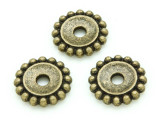 Brass Pewter Disc Spacer Bead 18mm (PB701)