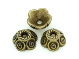 Brass Pewter Flower Cap 10mm (PB715)