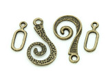 Brass Pewter Hook Clasp 26mm (PB729)