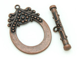 Copper Pewter Ornate Toggle Clasp 52mm (PB732)