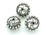 Pewter Bead - Ornate Round 26mm (PB736)