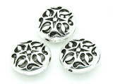 Pewter Bead - Hollow Ornate 16mm (PB756)