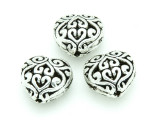 Pewter Bead - Heart 13mm (PB759)