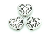 Pewter Bead - Heart 11mm (PB766)