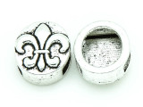 Pewter Bead Large Hole - Fleur-de-Lis 16mm (PB768)