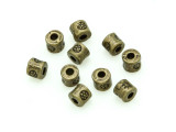 Brass Pewter Bead - Short Tube 3mm (PB780)