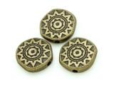 Brass Pewter Bead - Sun 13mm (PB782)
