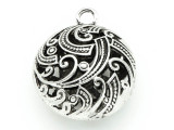 Ornate Round - Pewter Pendant 31mm (PW813)
