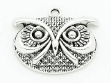 Owl - Pewter Pendant 42mm (PW844)