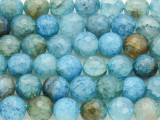 Blue Fire Agate Faceted Round Gemstone Beads 10mm (GS3823)