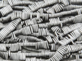 Silver Electroplated Hematite Oval Gemstone Beads 6mm (GS3824)