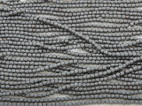 Silver Hematite Faceted Barrel Gemstone Beads 1-2mm (GS3830)