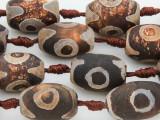 Tibetan Agate Barrel Gemstone Beads 18-24mm (GS3853)