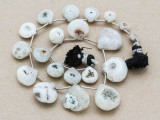 Dendritic Agate Teardrop Gemstone Beads 7-18mm (GS3903)