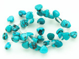 Turquoise Triangular Teardrop Beads 8mm (TUR1191)