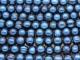 Blue Irregular Potato Pearl Beads 9mm - Large Hole (PRL177)