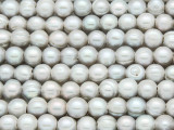Silver Irregular Potato Pearl Beads 9mm - Large Hole (PRL179)