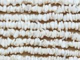 Ivory Irregular Disc Pearl Beads 5-6mm (PRL183)